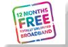 12 Months FREE Broadband