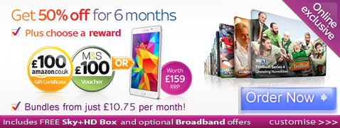 Sky tv packages for new customers