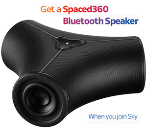 Sky TV with Bluetooth speaker