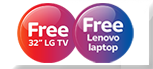 Free Laptop or LG TV
