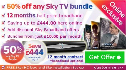 Half price Sky TV deals