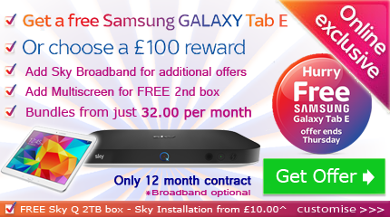 Sky Q with free Tablet