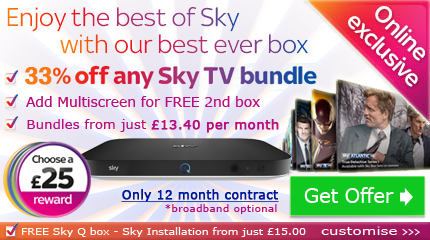 Sky Entertainment and Sky Fibre Unlimited offer: Available to new and existing Sky TV customers taking Sky Fibre Unlimited with Sky TV. Offer available to new Sky Broadband customers only. New 18 month contracts for Sky Fibre Unlimited, Sky Talk and Sky Line Rental required.