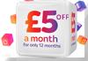 £5.00 off Broadband