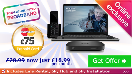 Sky Broadband without TV MasterCard