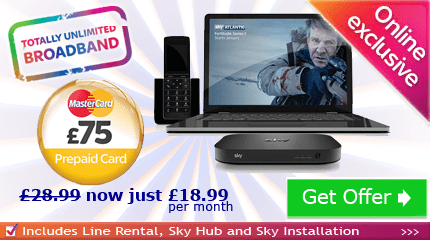 Sky Broadband without TV £10.00 off
