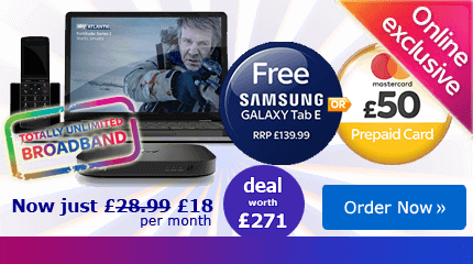 Sky Broadband with free Tablet