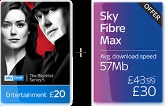Sky TV + Fibre Max Broadband