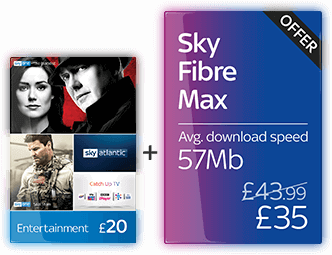 Sky Entertainment with Fibre Max