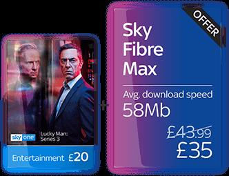 Sky Entertainment with Fibre Max