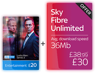 Sky Entertainment with Fibre Unlimited