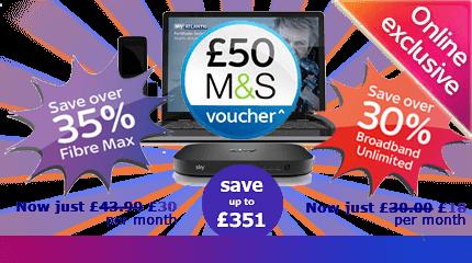 Sky Broadband free £50 M&S voucher