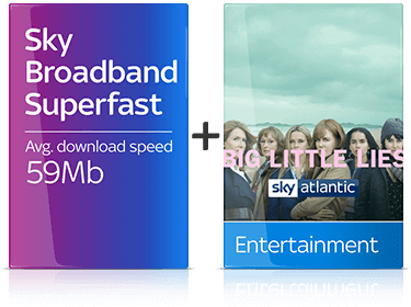 Sky Entertainment with Broadband Superfast