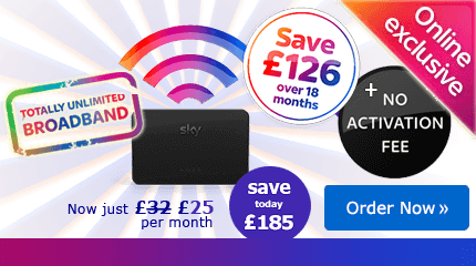 Sky Broadband deal - save £185