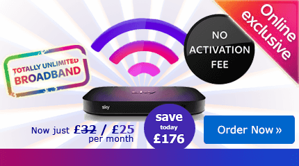 Sky Broadband Deal  - save £176