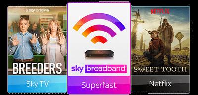 Sky TV with Superfast Broadband